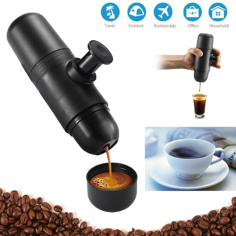 70ml Mini Coffee Machine Portable Coffee Maker Pressure Espresso Manual Handheld Espresso Coffee Maker for Home Travel Hot