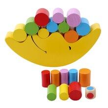 Bébé jouet dapprentissage précoce bois lune équilibrage jouets éducatifs blocs de construction enfants enfants équilibrage jouet JK993454