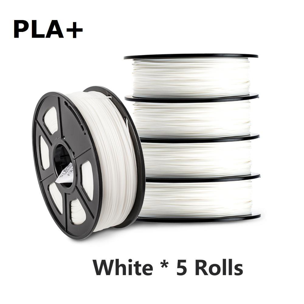 PLA Plus خيوط ثلاثية الأبعاد 1 كجم 5 لفات 1.75 مللي متر 2.2LBS صلابة عالية PLA + ثلاثية الأبعاد مواد الطباعة 5 كجم FDM خيوط طابعة ثلاثية الأبعاد بالجملة