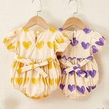 Enfant en bas âge barboteuse filles volants princesse bébé vêtements nouveau-né bébé vêtements infantile coton salopette été bébé combinaison tenue
