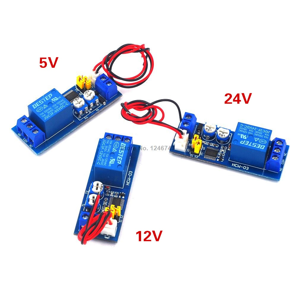 DC 5V 12V 24V Infinite Cycle Delay Timing Time Relay Timer Control ON-OFF Loop Switch Module Double