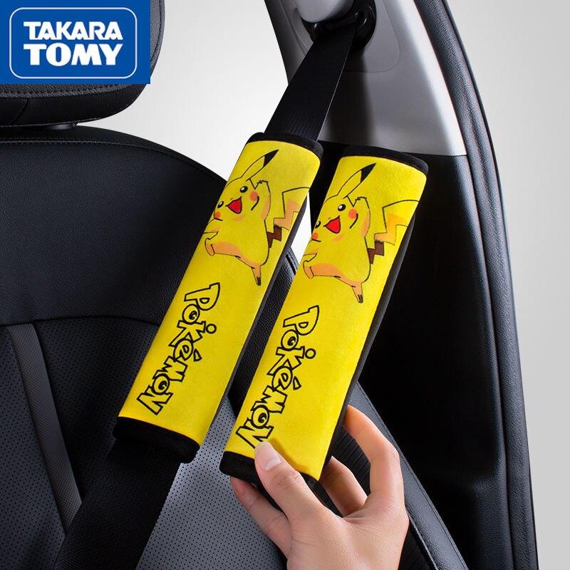 Наплечные подушки для автомобильного ремня безопасности TAKARA TOMY, Наплечные подушки для автомобильного ремня безопасности с Пикачу, автомоб...