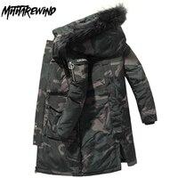 -30 Degree Winter Jacket Men parkas Thicken Coat Keep Warm Windbreaker Men Hooded Fur Collar Long Jackets Outdoor Down Jacket