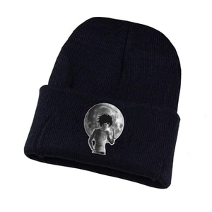 Anime Death Note Knitted Hat Cosplay Hat Unisex Print Adult Casual Cotton Hat Teenagers Winter Knitted Cap