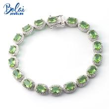 Bolai elegant color change zultanit bracelet 925 sterling silver oval 7*5mm nano diaspore gemstone tennis bracelets for women