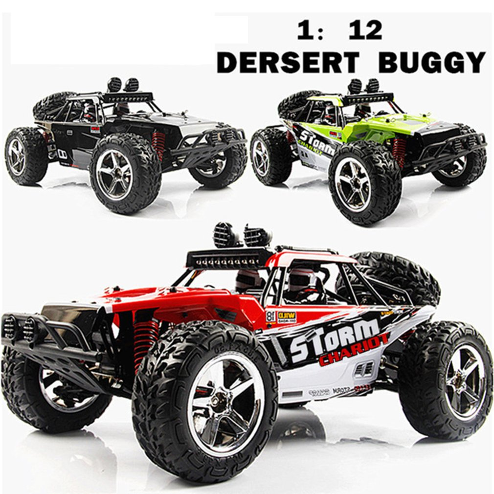 1:12 4WD RC Car Updated Version 2.4G Radio Control RC Cars Toys High Speed Racing Car With Standard Steering Gear Children Gift