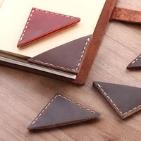 1 Pcs Creative Vintage bookmarks for books  Genuine Leather corner page marker  Handmade Memo Stationery gift School supplies