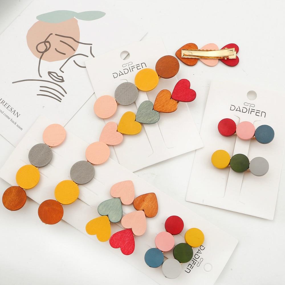 1Set de pasadores de pelo redondo Candy Love, accesorios de horquilla Retro Para niños niñas, pasador de pelo para niños, venta al por mayor