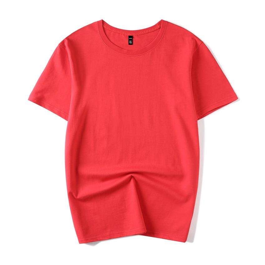 B1291-Summer Новые мужские футболки однотонные приталенные модные повседневные с коротким рукавом