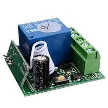 Pohiks 433mhz 10A 1 canal receptor inalámbrico relé RF Control remoto DC12V DIY Circuitos integrados Módulo de interruptor