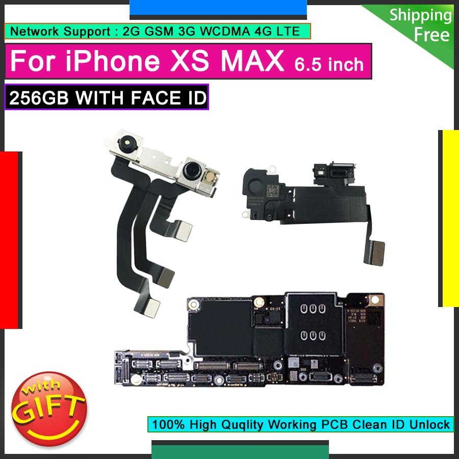 آيفون XS ماكس 256GB مع معرف الوجه اللوحة الأم الأصلية مقفلة اللوحة الرئيسية مصنع مجاني iCloud المنطق مجلس لوحة عمل جيدة