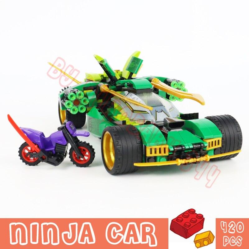 New Ninja Toys Racing Cars Trucks Building Blocks Bricks Mini Model Sets Christmas Gifts for Kid Children Boys 420Pcs