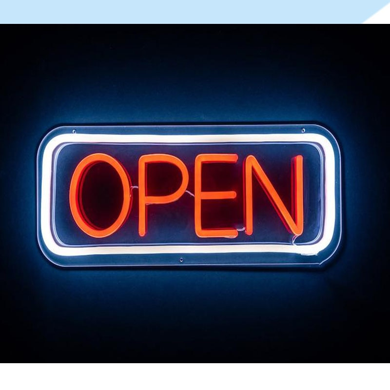 OHANEONK Open Sign Bar Shop Decoration Flex Silicone LED Neon Sign Wall Window Hanging Decoration