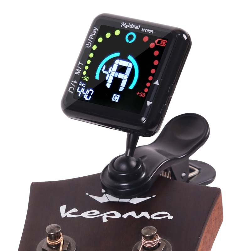 Mt90R Guitar Tuner Metronome 2 In 1 Multi Function Tuner Universal Rotation Piano Metronome Musical Instrument Parts