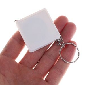 1PC 1M Mini Tape Measure with Key Chain Plastic Portable Retractable Ruler Centimeter/Inch Tape Measure Wholesale Color Random