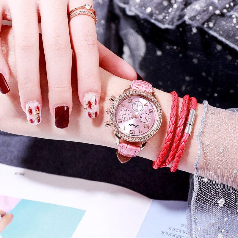 YUNAO Girls Fashion Watch Ladies Belt Watch Light Luxury Rhinestone Simple Small Dial Digital Quartz Watch 2021 Hot Sale Wat enlarge