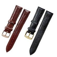 Moda lucertola trama cinturino in pelle fibbia ad ardiglione cinturino per orologio per donna e uomo 12mm 14mm 16mm 18mm 20mm 22mm 24mm