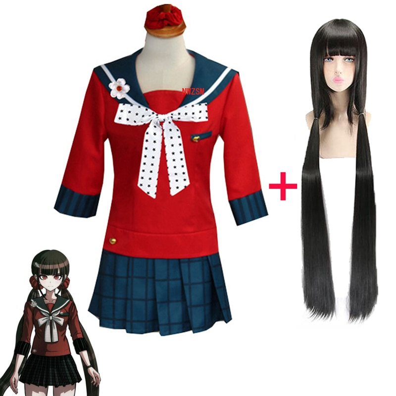 Danganronpa Harukawa Maki Cosplay Costume Sister Loli Halloween Carnival Skirt Funny Wig For Woman