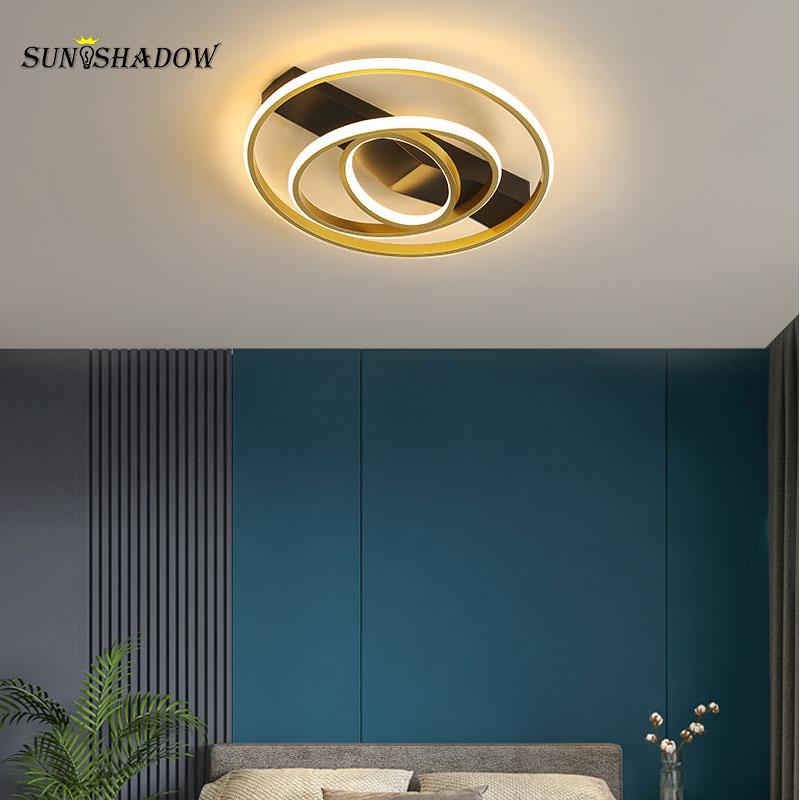 Современные СВЕТОДИОДНЫЕ Внутреннее освещение, люстры светильники круги Потолочная люстра освещение для гостиной, столовой, Спальня Кухня