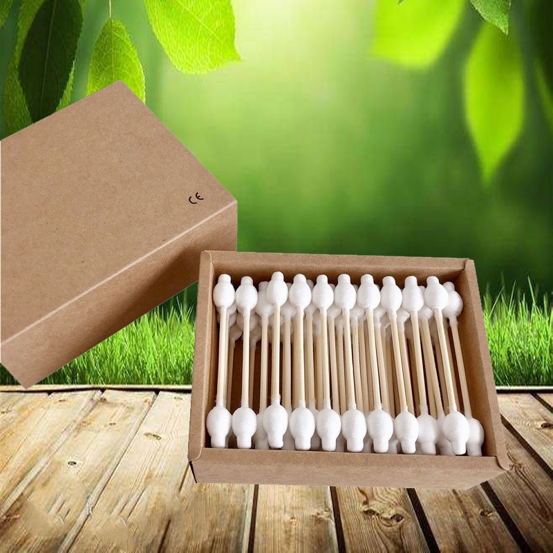 Zero Waste Eco Friendly Products Microbrushes for Eyelashes 500 Sticks for Aikos Gourd Shape Double Head Nose Ears Cleaning Tool