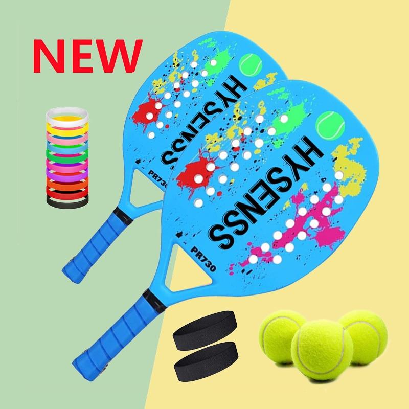 Professional Carbon Beach Tennis Paddle Racket Soft EVA Face Pickleball Raqueta With Bag For Adult Tennis Racquet Equipment