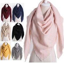 2020 New Fashion Winter Warm Triangle Scarf For Women Pashmina Shawl Cashmere Plaid Scarves Blanket