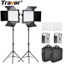 Travor 2 ensemble LED Kit de lumière vidéo L4500K Dimmable caméra lumière professionnel lumière Led vidéo pour Studio photo maquillage en direct