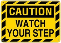 caution watch your step style 4 watch your step signs label vinyl decal sticker kit osha safety label compliance signs 8