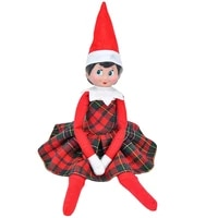 2021 new cloth elf doll accessories costume elf clothes cute skirt scarf toys for children christmas presents for 27 32cm dolls