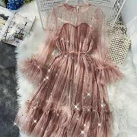 Легкое платье со звездочками