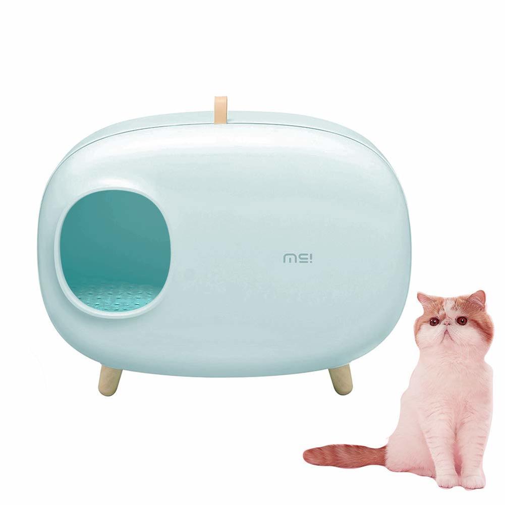 Caja de arena para gatos diseño Semi-cerrado de lujo gran Gato elegante arena inodoro Kit de entrenamiento para gatos