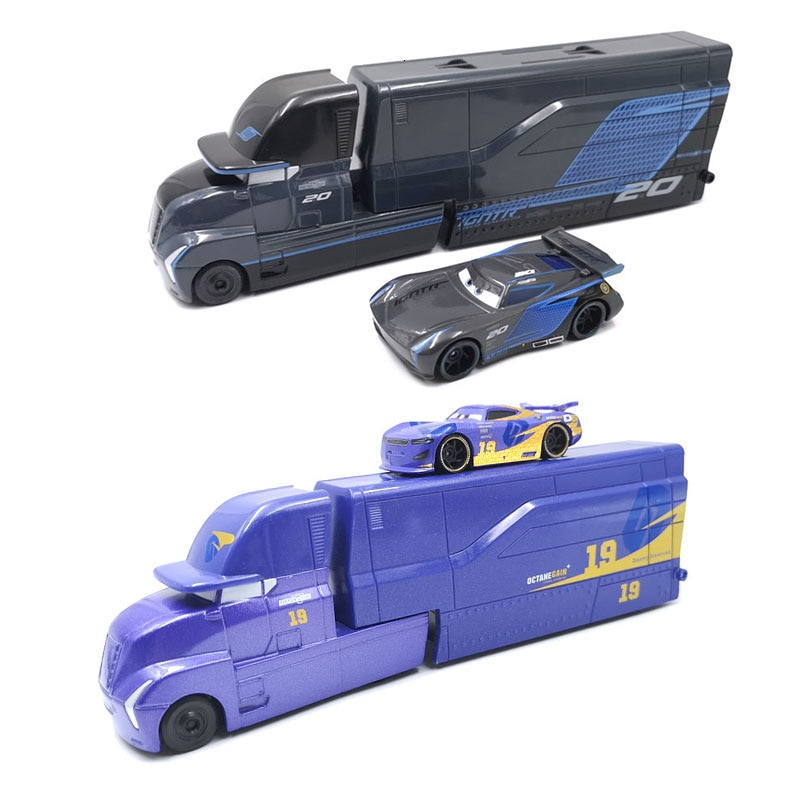 pixar cars jackson storm 1 55 scale mini cars model toys for children christmas gifts figures alloy cars toys high quality Disney Pixar Cars 3 Toys Lightning McQueen Jackson Storm Mack Uncle Truck 1:55 Diecast Model Car For Children Christmas Gifts