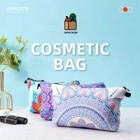 upackor printing makeup bags with mandala pattern waterproof organizer bag pouch for travel ladies cosmetic bag