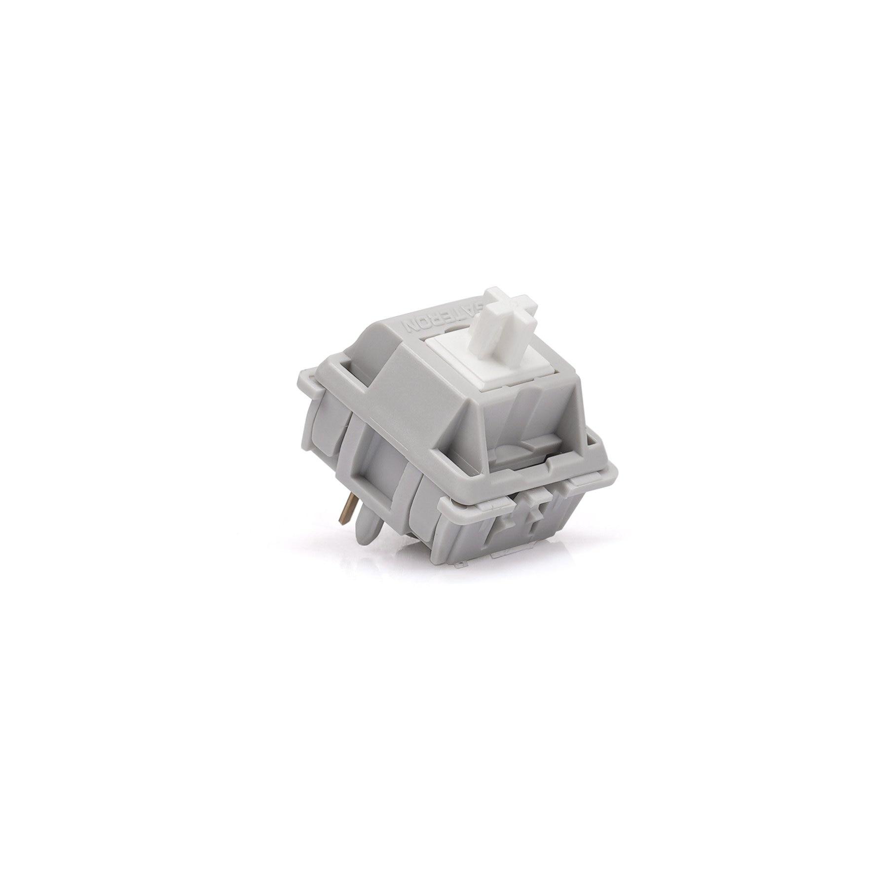 Gateron مفاتيح عاصفة ثلجية فضية للوحة المفاتيح الميكانيكية لتقوم بها بنفسك