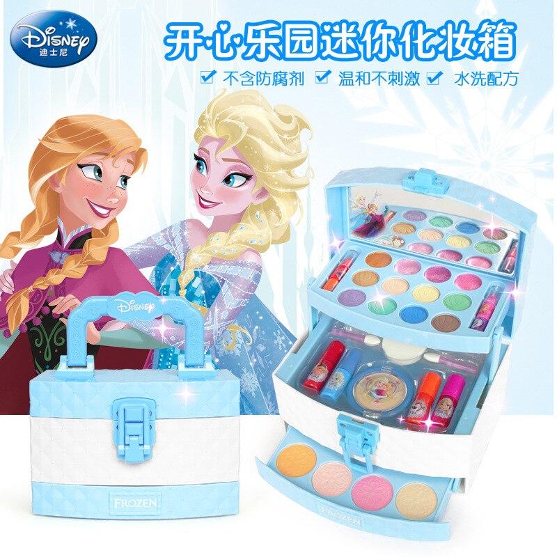 Чемодан для девочек Disney «Холодное сердце», косметические игрушки, детский набор для макияжа, косметические игрушки, аксессуары, макияж для ...