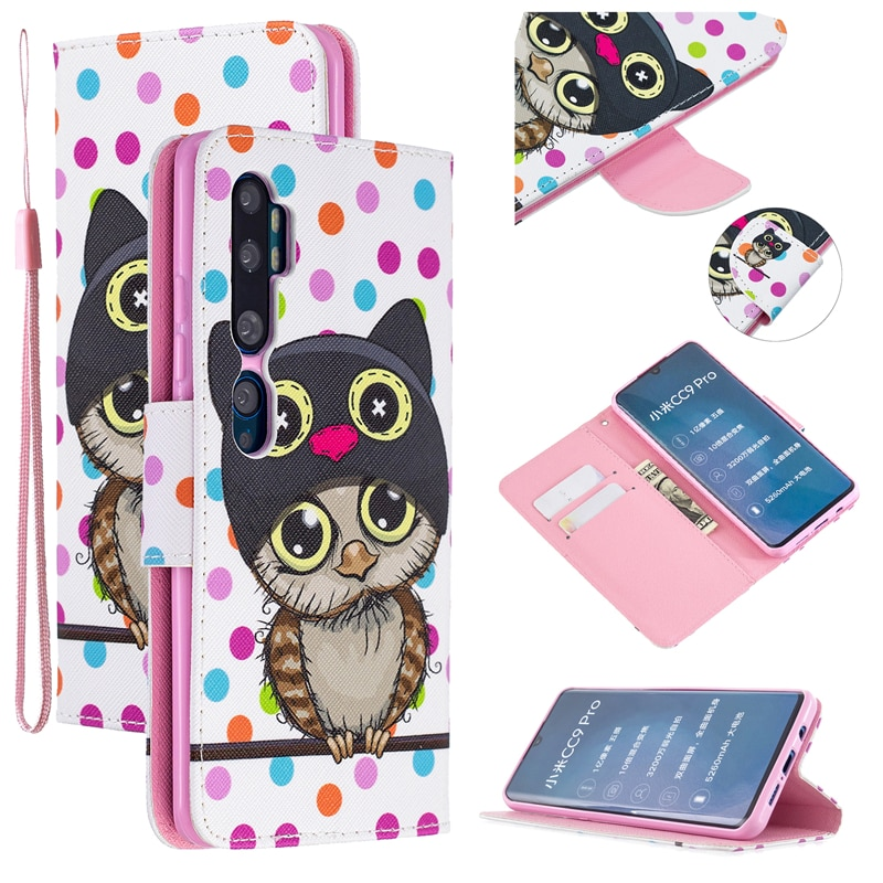 Funda tipo billetera con soporte y dibujo de Animal bonito para Redmi 4, 5, 6, 7/8, GO Note 4X, 5, 6, 7/8 Pro, 8T, Xiaomi CC9, 9Lite, CC9E, A3, A1 y A2