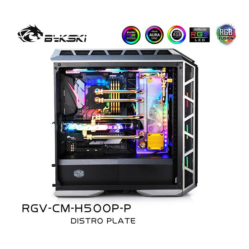 Bykski RGV-CM-H500P-P Distro لوحة عدة ل CoolerMaster H500M H500P ، RBW الممر المائي مجلس وحدة المعالجة المركزية/GPU كتلة الماء برنامج حلقة عدة
