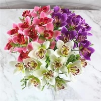 1pc artificial silk orchid flowers fake flower plants for wedding party home festival decoration floals