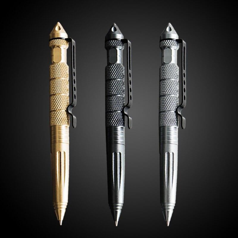 Ручка для инструментов, многофункциональная ручка, тактическая Вращающаяся ручка унисекс из вольфрамовой стали, металлическая шариковая р...
