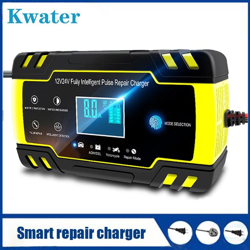 12v automatic lead acid battery charger 20a 12v 12V-24V 8A Full Automatic Battery-chargers Digital LCD Display Car Battery Power Puls lead acid battery portable charger