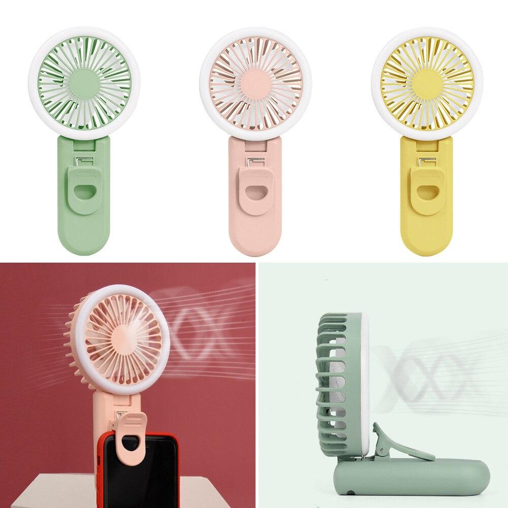 Mini ventilador portátil moda luz de preenchimento carga usb ventiladores elétricos handheld pequeno ventilador elétrico refrigerador ar escritório estudo viagem