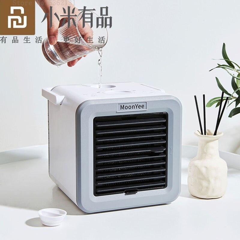Youpin-مروحة صغيرة لتكييف الهواء والمساحة الشخصية ، سخان هواء صغير ، مروحة تبريد ، 3 أوضاع رياح طبيعية ، للمنزل والمكتب