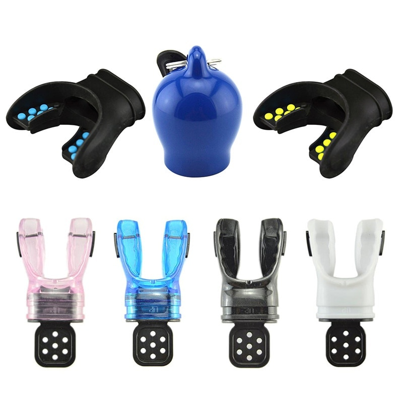 ¡Novedad! Boquilla de silicona moldeable para buceo para adultos, regulador de respiración cómodo bajo el agua con envoltura de corbata, equipos prácticos