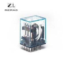 LY2NJ 11 Pin Elektronische Mini Elektromagnetische Relais Dpdt Ac 220V 12V 10A Coil Power Relay DC24V 12V