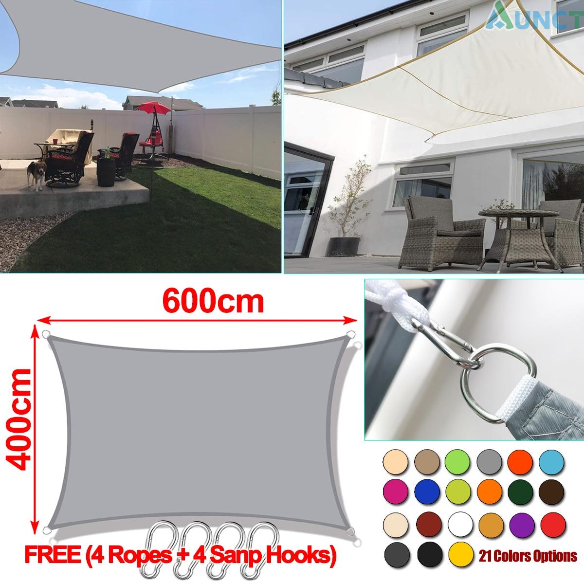 Voile dombrage rectangulaire Oxford 300D 4x6M, bâche de protection solaire de piscine, auvent dextérieur, voile imperméable, gazébo, auvent