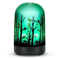 100ml Humidificateur Dair 3D Verre Arome Diffuseur Huile Essentielle Aromatherapie Machines A Ultrasons De Parfum Pour La Maison LED Lumieres