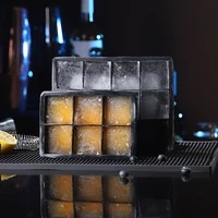 frozen ice mold whisky cocktail ice hockey bar silica gel ice lattice large square ice box cover ice cube tray ice cube mold