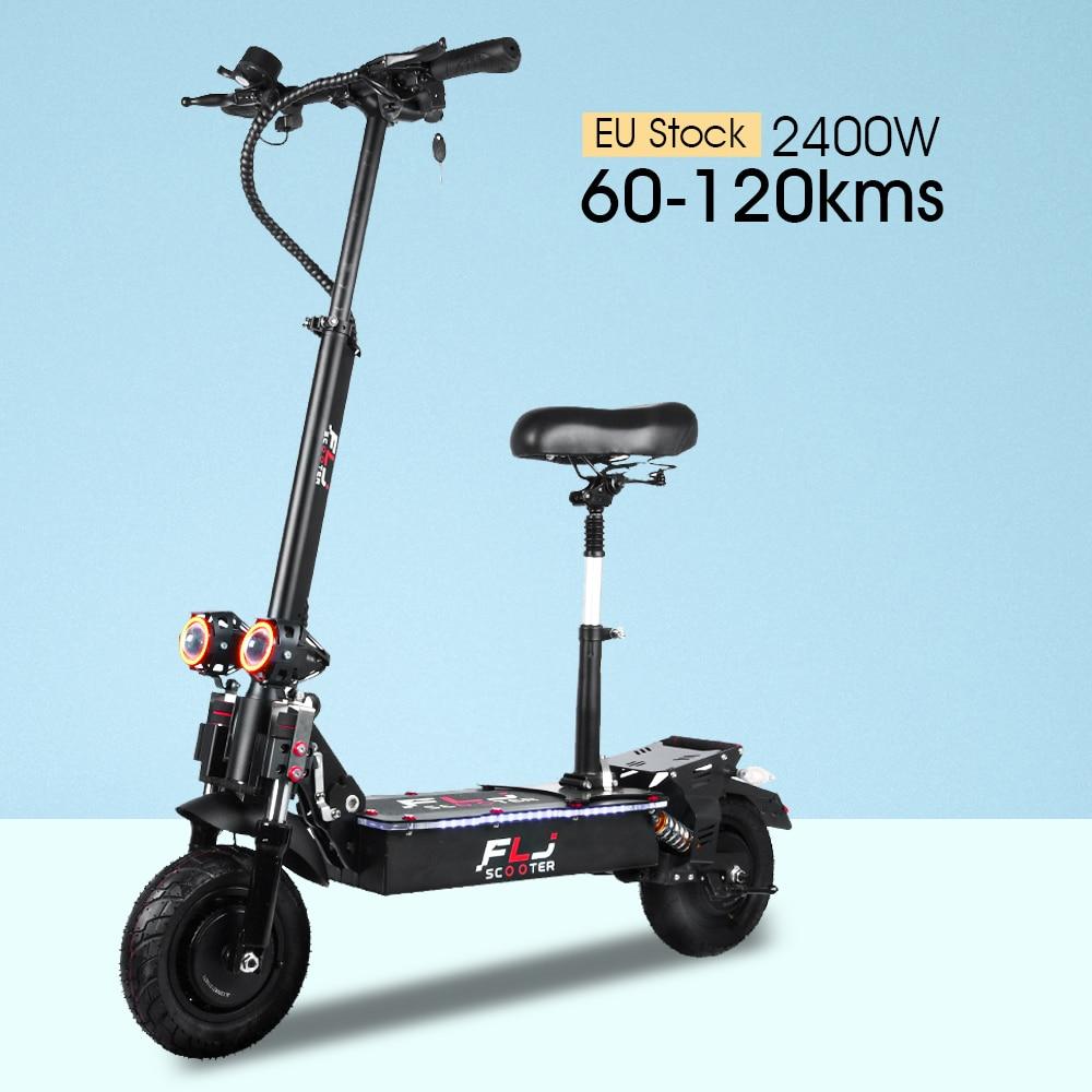 FLJ E1-patinete eléctrico de doble Motor para adulto, 10 pulgadas, 52V, 2400W,...