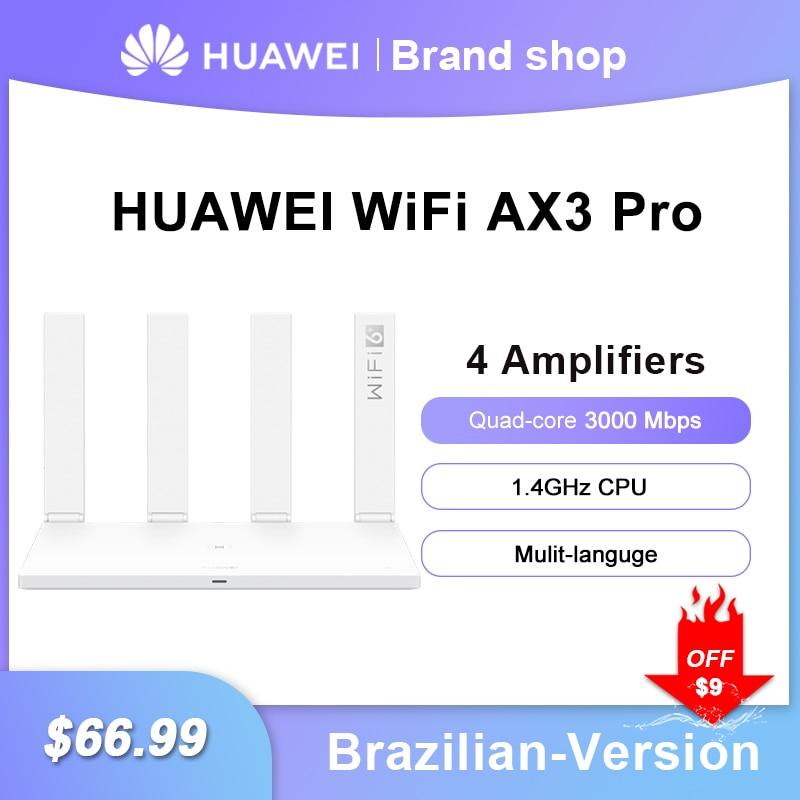 Original Huawei WIFI Router AX3 WIFI 6 Plus 3000Mbps Multi-User Huawei Wireless Router AX3 Pro WIFI 6+ 2.4GHz 5GHz Dual-Band