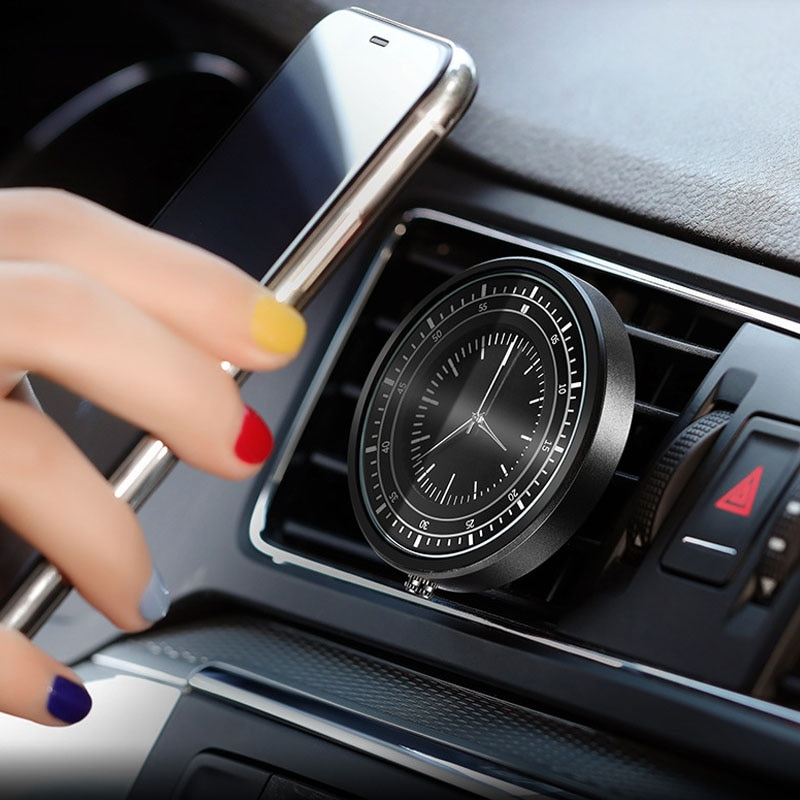 New Car Clock Mobile Phone Bracket Magnetic Suction Air Outlet Paste Bracket Universal Navigation High-End Bracket Auto Parts 2201 phone bracket mobile phone bracket magnetic car navigation bracket